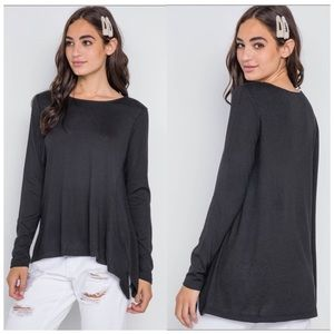Black asymmetrical sweater S, M, L NWT